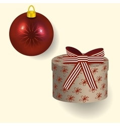 in red colors Christmas gift vector image