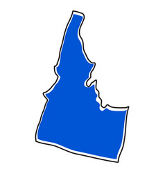 isolated map of the state of idaho vector image