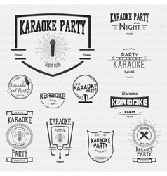 Karaoke badges logos and labels for any use vector image