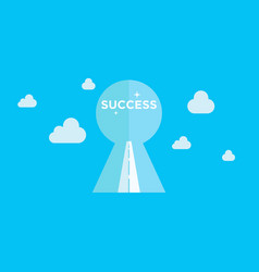 key to success is the road to success background vector image
