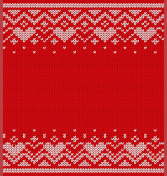knitted texture seamless pattern vector image