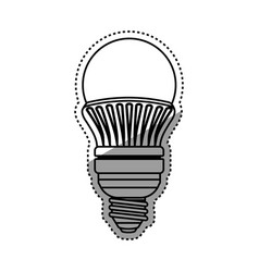 light bulb electric led vector image