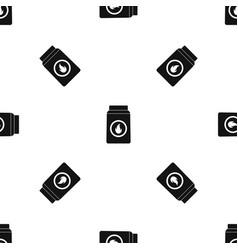 matchbox pattern seamless black vector image