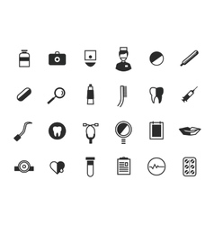 Medical Icons Set Health and hospital symbols vector image
