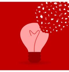 Medicine a bulb2 vector image