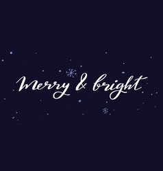 merry christmas and new year words vector image