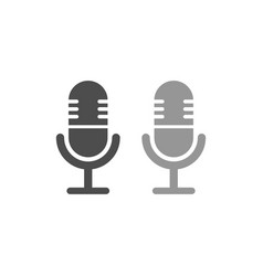 Microphone simple icon design vector