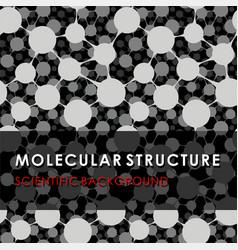 molecular structure scientific background vector image