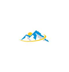 mountains logo icon vector image