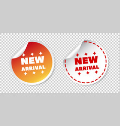 new arrival stickers on isolated background vector image