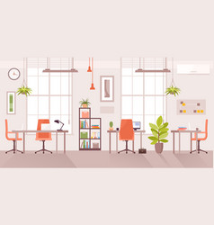 office workplace cartoon flat vector image