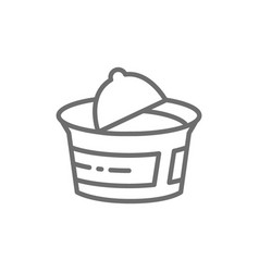 Packaging for yogurt sour cream cottage cheese vector
