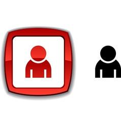 Person button vector image