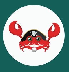 Pirate crab vector