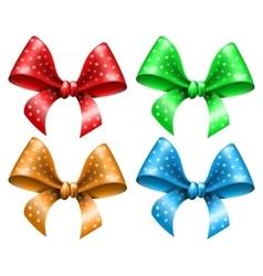 Polka dot bow vector