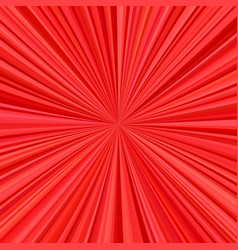 red explosion background from radial stripes vector image