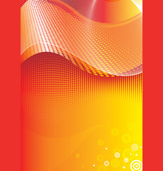 red flowing digital vector image