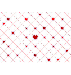 red hearts abstract st valentines day background vector image