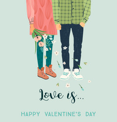 Romantic with man and woman love vector