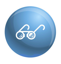 Round glasses icon simple style vector