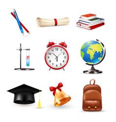School accessories set vector