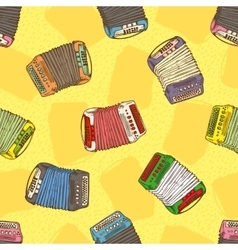 Seamless Pattern Bayans or Accordions vector