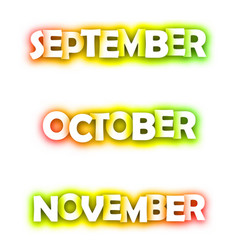 september october november spectrum banners vector image