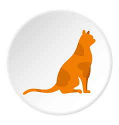 sitting cat icon circle vector image