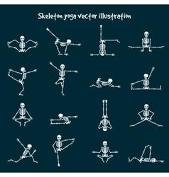 Skeleton yoga vector image