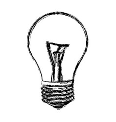 Sketch of incandescent light bulb vector