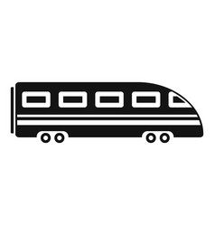 speed train icon simple style vector image