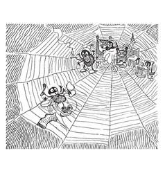 Spider web vintage vector