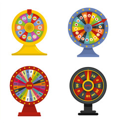 Spin wheel banner concept set isolated vector