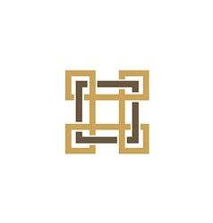 Square decorative ornament logo vector