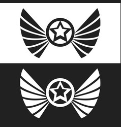 Star and wings logo vector
