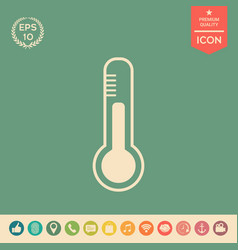 Thermometer icon symbol vector