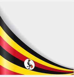 Ugandan flag background vector