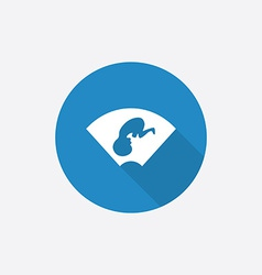 Ultrasound Flat Blue Simple Icon with long shadow vector