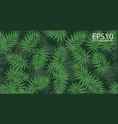 Vertical garden with tropical green leaf pattern vector