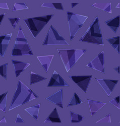 violet color triangle seamless pattern vector image