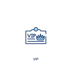 Vip concept 2 colored icon simple line element vector