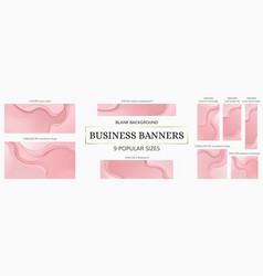 web banners bundle 9 popular sizes vector image