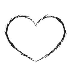 black heart icon grunge 6 vector image vector image