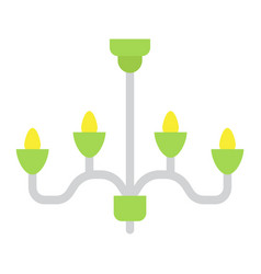 Chandelier flat icon furniture and interior vector