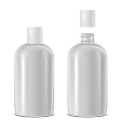 open and closed cosmetic bottle vector image
