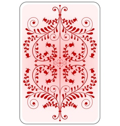 Poker playing card backside red vector