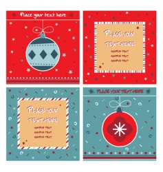 red and blue note cards vector image