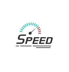 Speed logo template isolated on white vector image vector image