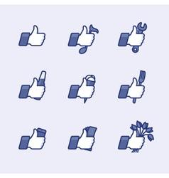 Thumbs Up symbol vector image
