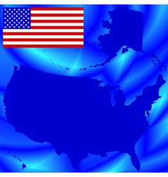 USA map on abstract background vector image
